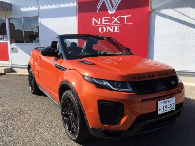ブルゾン樫原の高級車レンタカー配達日記20~Range Rover Evoque  convertible~