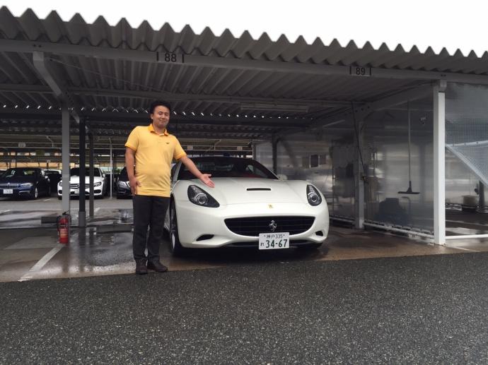 谷畑任三郎の高級車レンタカー配達日記12~フェラーリ カリフォルニア~