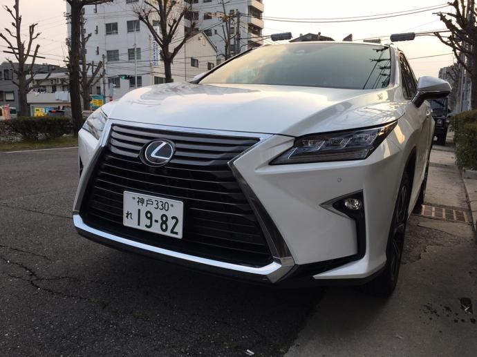 谷畑任三郎の高級車レンタカー配達日記51~レクサス RX200tバージョンL~