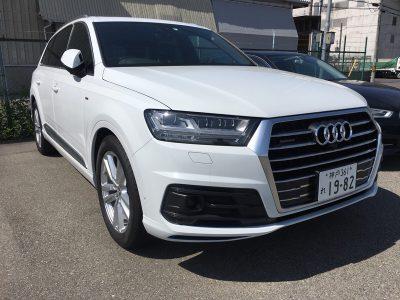 谷畑任三郎の高級車レンタカー配達日記105~Audi Q7 3.0クワトロ エアサス仕様 Sライン~
