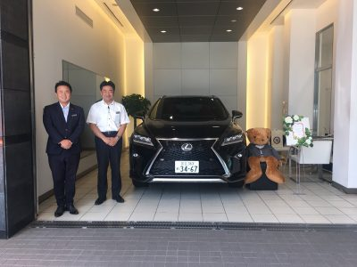 谷畑任三郎の高級車レンタカー配達日記122~レクサス RX300 Fスポーツ AWD~