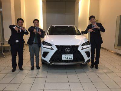 谷畑任三郎の高級車レンタカー配達日記~レクサス NX300 Fスポーツ~