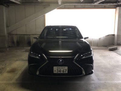 クリス二瓶の高級車レンタカー配達日記86  レクサス ES300h バージョンL  黒